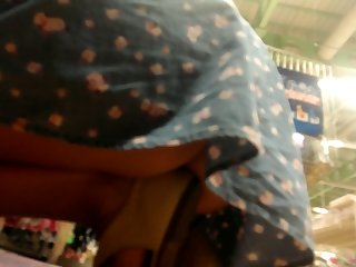 blonde young mom upskirt part1