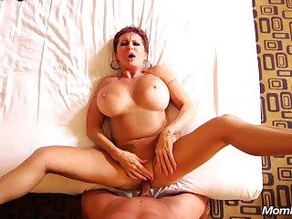 Horny Russian GILF big tits squirter