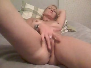 Extra hot Russian blonde milf with big..