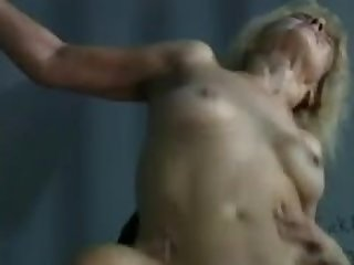 Blonde mature in jail still has the oral..